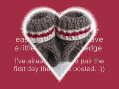 Sock Monkey Booties Knitting Pattern Free : Sock Monkey Booties - Knitting Pattern Presentation - YouTube