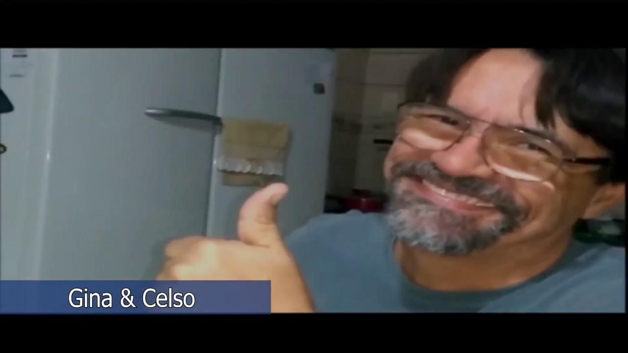 Amigos do Papo: Gina e Celso.