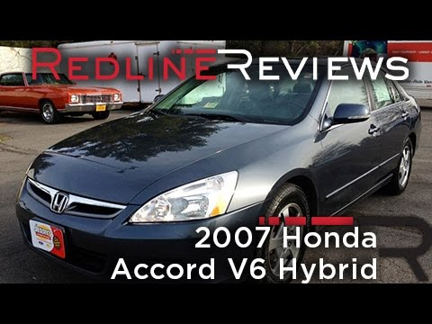 2007 Honda Accord V6 Hybrid Review. Walkaround. Exhaust. Test Drive