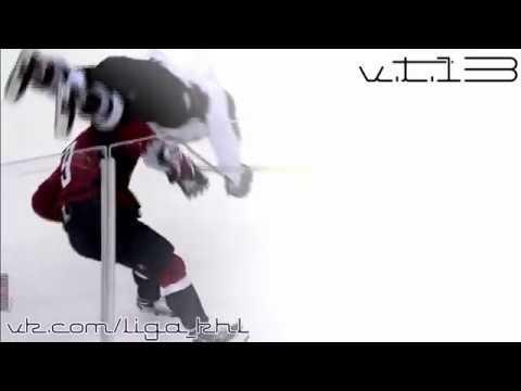 Орлов просто перевернул Дюшена   Супер силовой прием от Орлова   НХЛ   NHL [v.t.13]
