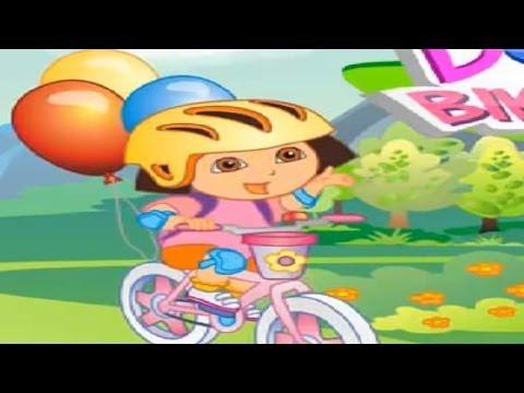 DORA THE EXPLORER - Dora's Bike Ride   New Full Game HD (Game online for Children)