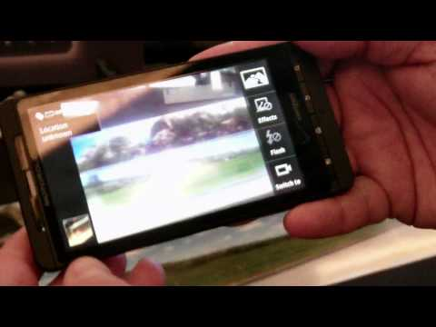 Motorola DROID X demonstration