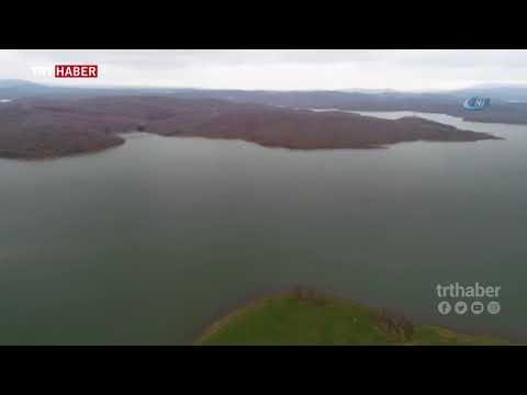 İstanbul barajlarındaki doluluk oranı havadan görüntülendi.
