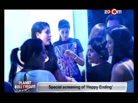 Saif Ali Khan, Kareena Kapoor Khan and Ileana Dcruz at 'Happy Ending' screening | Bollywood News
