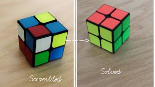 How to solve a 2x2 rubik's cube (Quick and Easy method)