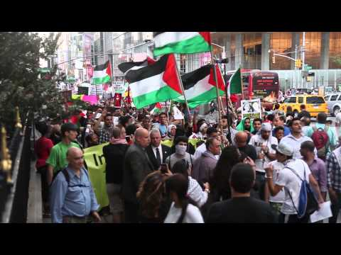 Palestine & Israel supporters clash during NYC protest