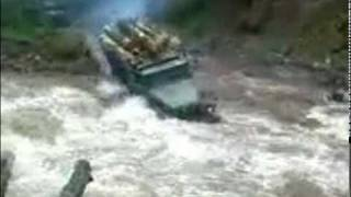Ural 4320 truck goes through river