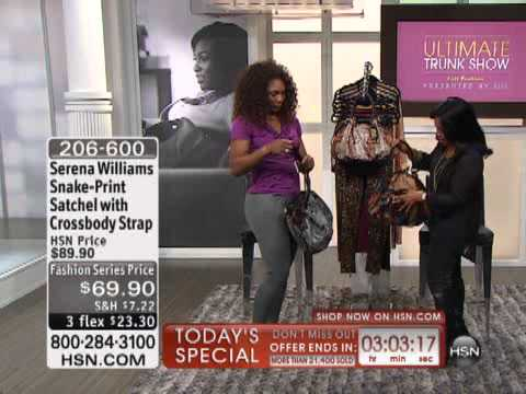 Serena Williams Snake-Print Satchel