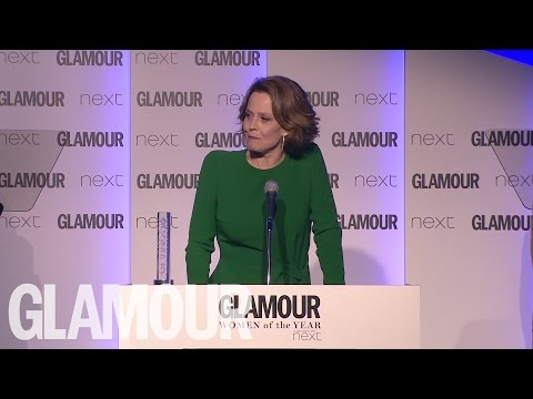 Sigourney Weaver's acceptance speech at GLAMOUR's Women of The Year Awards 2016
