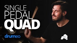 How To Play A Single Pedal Quad
