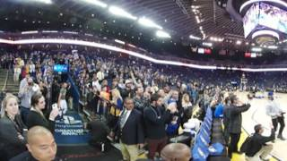 Stephen Curry's pre-game tunnel shot in 360 Degrees