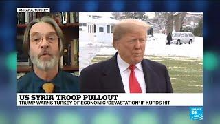US Syria troop pullout: Trump warns Turkey of economic 'devastation' if Kurds hit