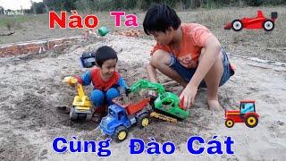 Trò chơi trẻ em❤️Máy Xúc Xe Cẩu Xe Cuốc Đào Cát❤️Nhạc Thiếu Nhi ABC