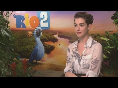 Rio 2: Anne Hathaway interview turns into therapy session