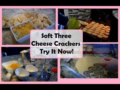 Soft Three Cheese Crackers