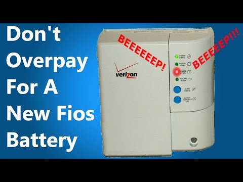 [FIXED] Beeping Frontier Fios Battery Backup