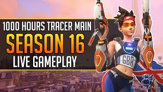 Overwatch Season 16: Tracer Main Competitive Gameplay Live! #11