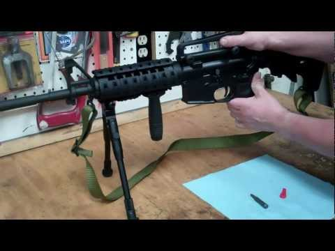 How to install an Accu-Wedge into an AR-15  ( AR15 M4 rifle )
