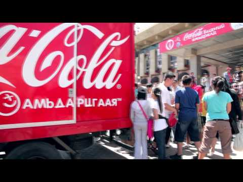 Coca-Cola Happiness truck Mongolia