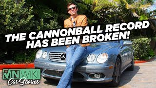 Ed's Cannonball Record has been broken