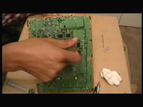 Fix an xbox 360 with Red Ring Of Death ~ e74 ~1 red light -- PART 2