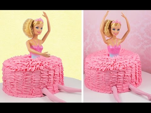 Ballerina Barbie Cake! Easy Ballet Tutu Cake with Matching Cupcakes!