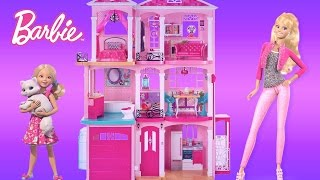 Barbie Dreamhouse 2015 Unboxing Assembly and Full House Tour | TheChildhoodLife