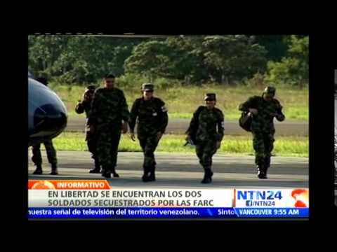 En libertad César Rivera y Jonathan Díaz, los dos soldados secuestrados por las FARC en Arauca