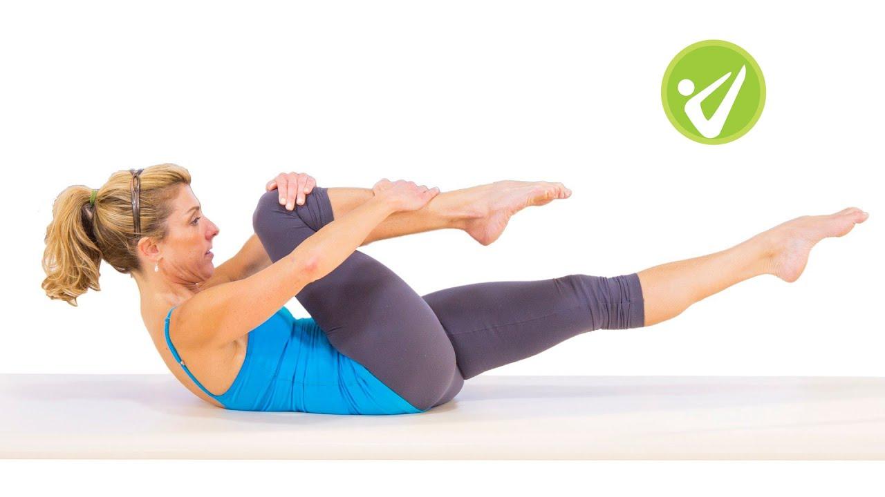 Single Leg Stretch Pilates Mat Exercise