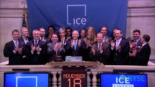 IntercontinentalExchange Group Rings the NYSE Opening Bell