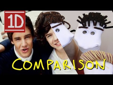 One Direction 1D3D Movie Trailer - Homemade with Sock Puppets (Comparison)