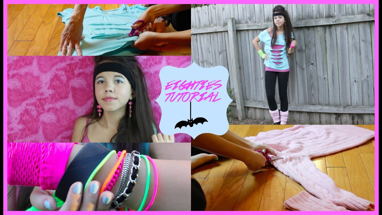 Diy 80 39 s inspired halloween costume youtube for Homemade 80s decorations