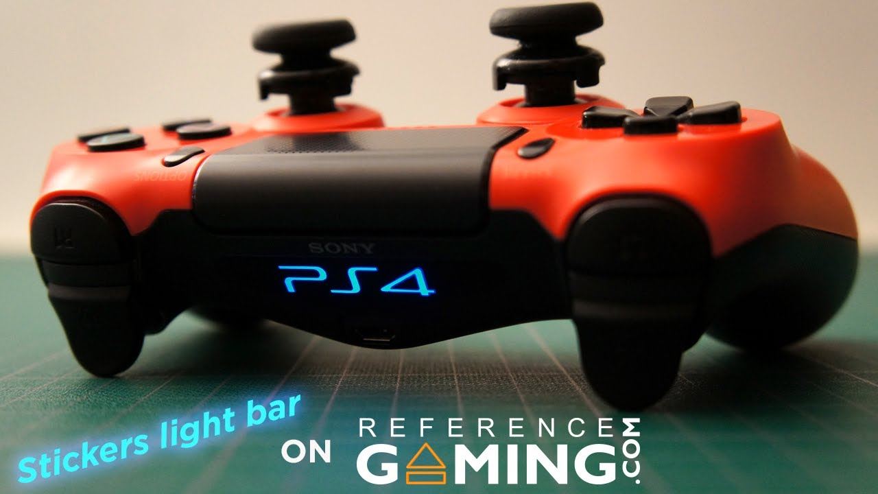 Stickers light bar ps4 autocollants decals youtube for Autocollant mural