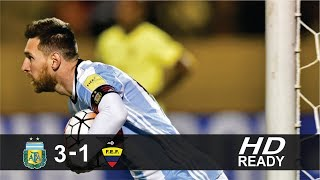 Ecuador 1-3 Argentina Highlights & Goals 10 October 2017 HD