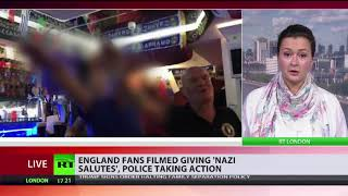 England fans filmed giving Nazi salutes, police taking action