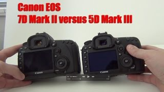 Canon 7D Mark II versus 5D Mark III - photo video test comparisons