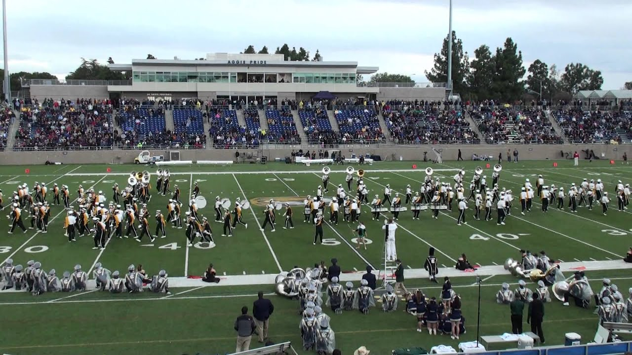 Cal Poly SLO marching band halftime show at UC Davis on 11/5/11 ...