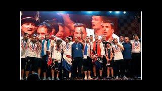 World Cup runners-up welcomed as heroes in Croatia