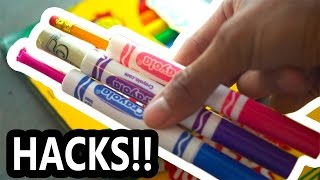DIY Back To School Marker Hacks!!