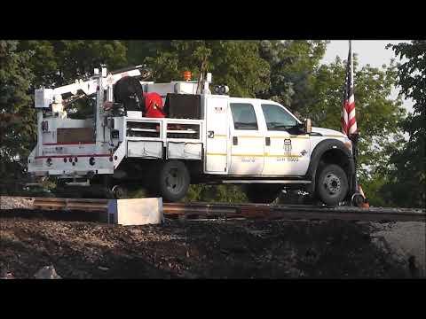 UP Derailment Aftermath & Trackwork, Glenview, Illinois, 07.06.12