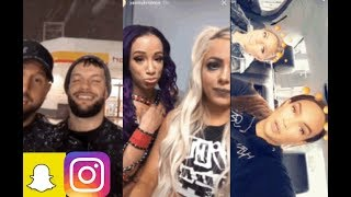 WWE Snapchat/Instagram ft Sasha Banks, Finn Balor, Alexa Bliss, Liv Morgan, Nia Jax, Paige n MORE