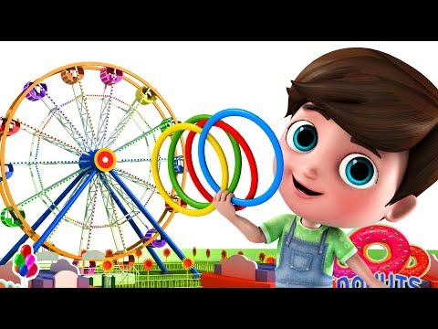 Learning Shapes with Giant Wheels and Bubbles ft. Happy and Snappy | Happy Snappy TV