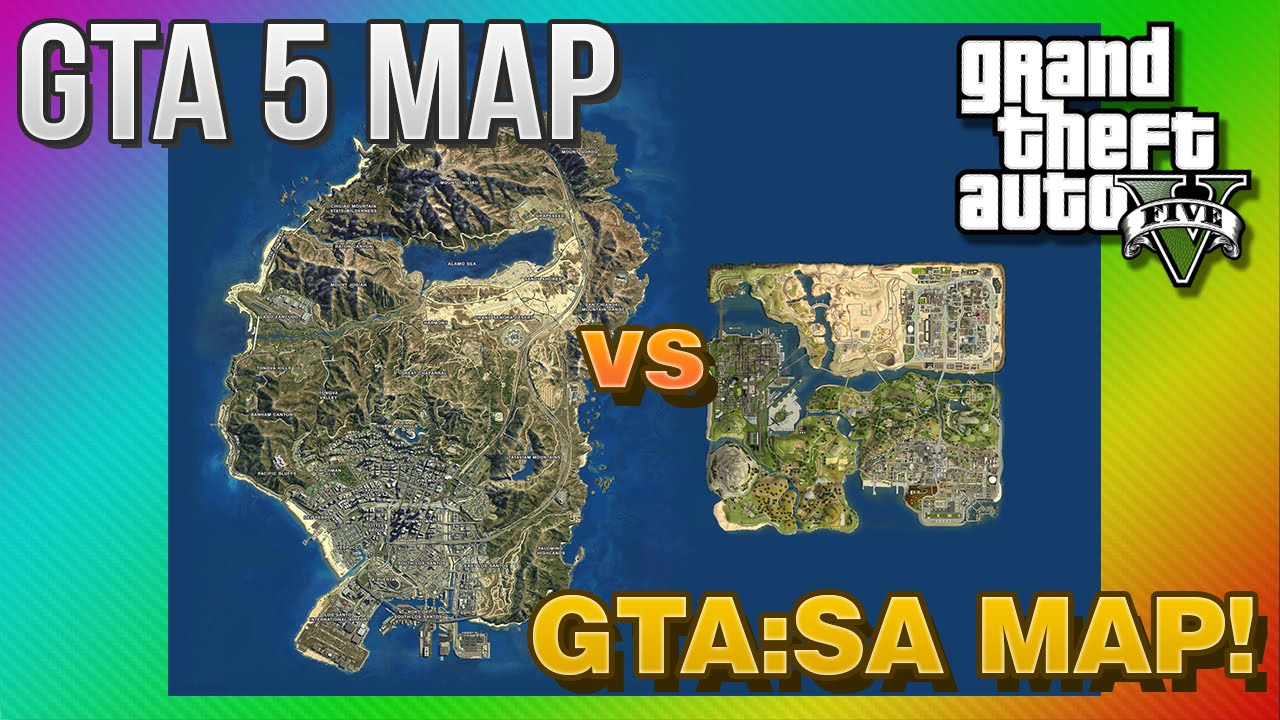 Gta 5 Map Comparison to Gta San Andreas Gta 5 Map vs Gta San Andreas
