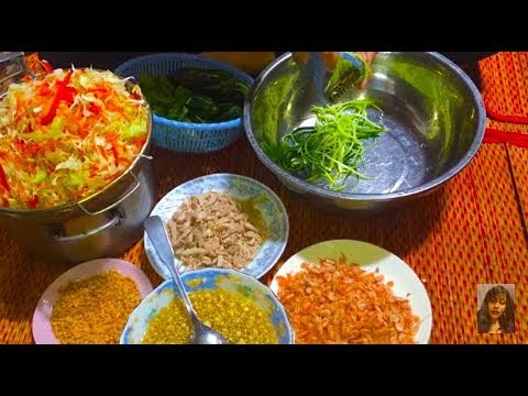 How To Make Asian Traditional Food - Cambodian Style Cooking At Home - Cambodian Family Food Recipes