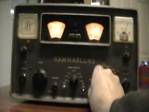 Short demo of Hammerlund HQ110A receiver