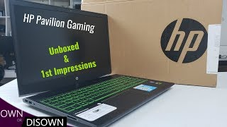 HP Pavilion Gaming unboxed & 1st Impressions (Full Review to Follow)
