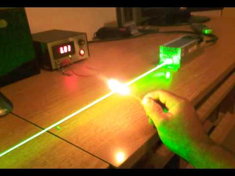 DPSS laser 2000mW 532nm 2 Watt class 4 burn fire toothpick