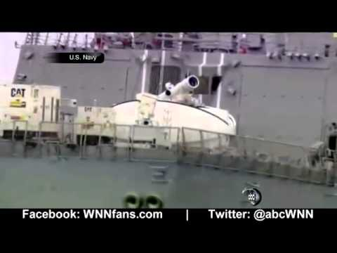 Navy`s New Laser Weapon Blasts Bad Guys From Air, Se