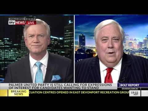 Clive Palmer  surprises Andrew Bolt - full interview - Bolt Report