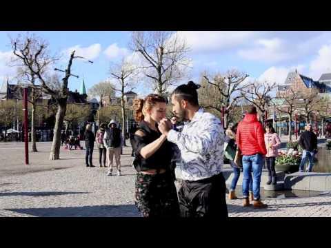 Adrian and Mora dancing tango in Amsterdam